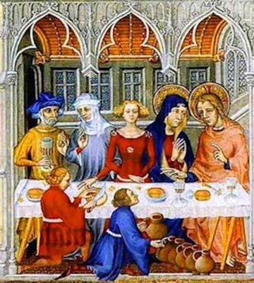 Fratelli Limbourg «Le nozze dei Cana»