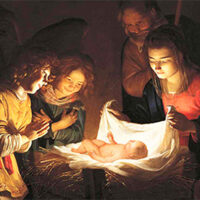 Gerard van Honthorst «Adorazione del Bambino»