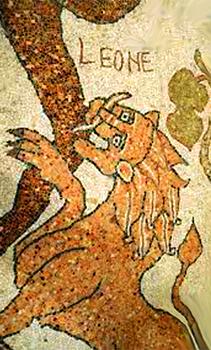 Il Leone di Giuda (il Cristo Messia) che azzanna il Serpente (Satana)