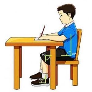 corretta postura a scuola