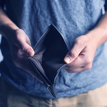 senza soldi