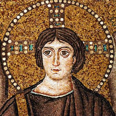 «Cristo» mosaico bizantino Abside San Vitale, Ravenna