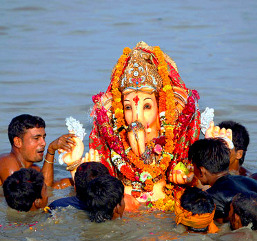 Ganesh nell'acqua