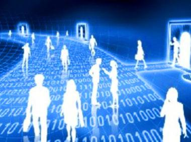 Società tecnologica digitalizzata