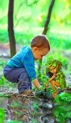 bambino con elfo