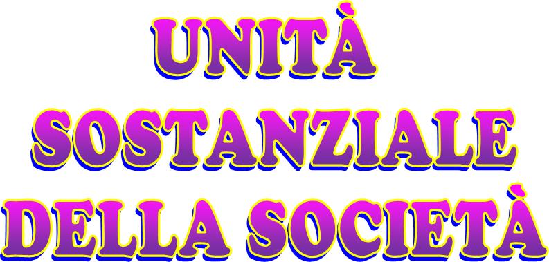 Unità sostanziale della società