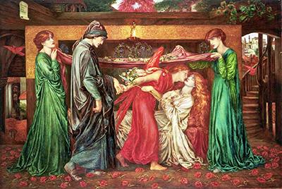 Dante Gabriele Rossetti «Morte di Beatrice»
