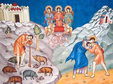«Il ritorno del figliol prodigo» Icona russa