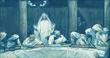 James Tissot L'apparizione di Gesù al Cenacolo