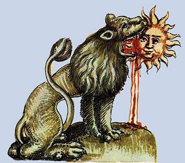Leone mangia il Sole