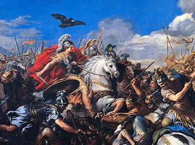 Pietro da Cortona «Alessandro – Battaglia di Isso»