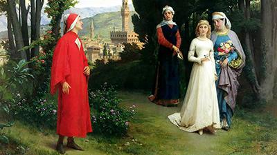 Henry Holiday «Un incontro di Dante e Beatrice»