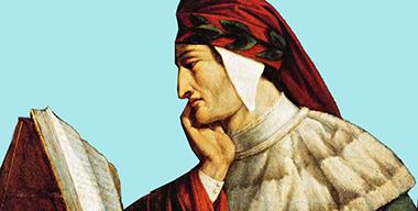 Dante con libro