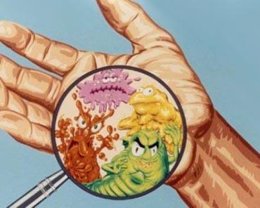 Germi nella mano