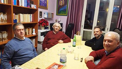 A Ostia: Gianni, Fulvio Di Lieto, Mauro Toppetti e Antonio Reda