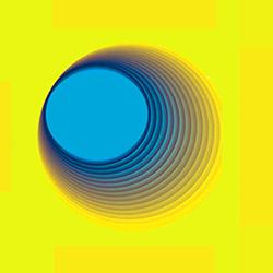 Sfera gialloblu