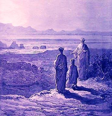 Dante incontra nel Purgatorio Catone l'Uticense