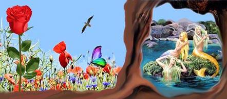 Grotte e fiori