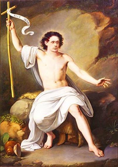 Francesco Scaramuzza «San Giovanni Battista nel deserto»