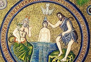 Il Battesimo di Gesú nel Giordano