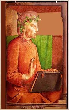 Dante, pannello conservato al Louvre