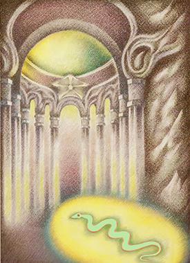 Il serpente entra nel tempio