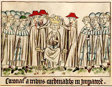 Enrico VII di Lussemburgo incoronato a Roma dai cardinali, perché il papa è ad Avignone