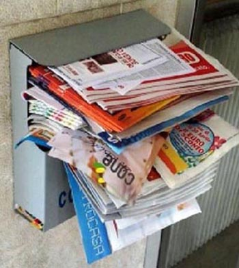 Pubblicità in cassetta della posta