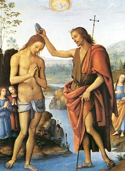 Raffaello «Battesimo nel Giordano»