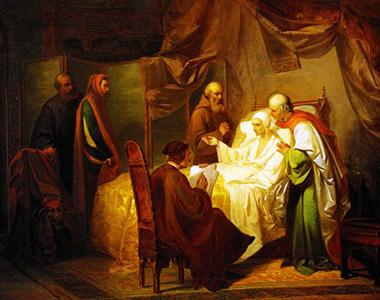 Eugenio Moretti Larese «Morte di Dante»
