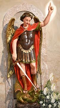 Statua dell'Arcangelo Michele nella Cattedrale di Cerveteri