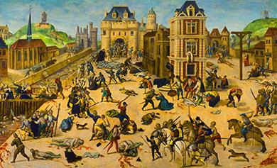 François Dubois «Massacro di San Bartolomeo» Strage degli Ugonotti: cattolici contro protestanti