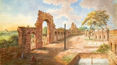La colonna di ferro in un dipinto ottocentesco