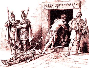 gladiatori morti
