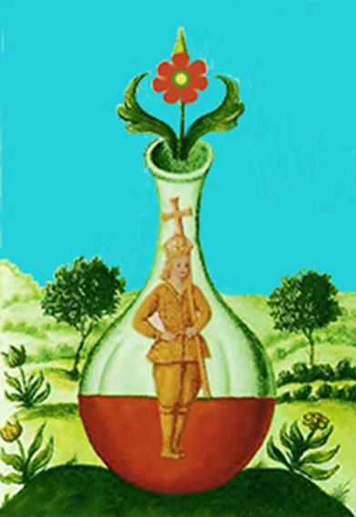 «Rosa Rubea» XVII sec. - Elisir al rosso – Purificazione dei corpi imperfetti.