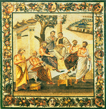 «Accademia di Platone» mosaico pompeiano