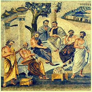 «L'Accademia di Platone» mosaico Museo archeologico di Napoli