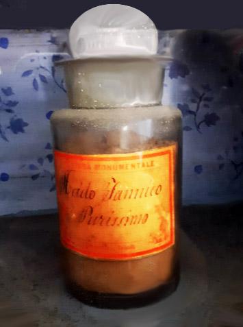 Antica ampolla di acido tannico
