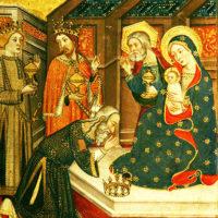 Fratelli Jaume e Pere Serra – sec. XIV «Visita dei Magi al Gesú Bambino salomonico»
