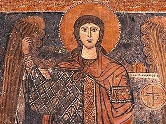 Affresco di San Michele Arcangelo Basilica di Santa Maria Maggiore