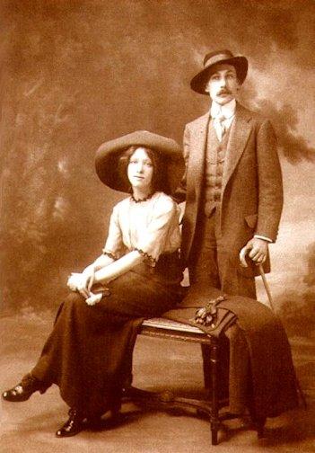 Andrej Belyj e Asja Turgeneva nel 1912