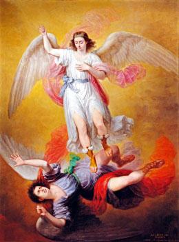 Antonio Maria Esquivel Michele caccia Lucifero dal cielo