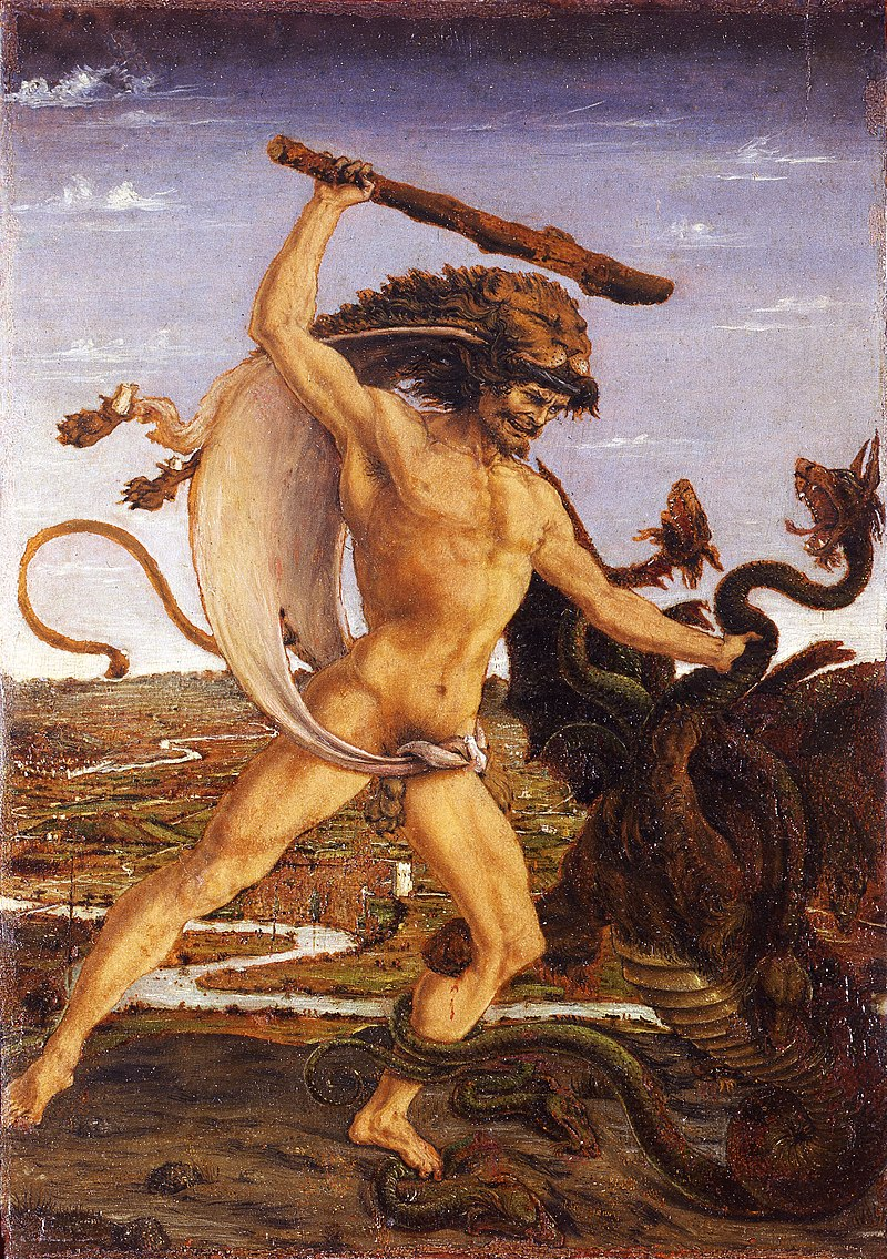 A. del Pollaiolo «Ercole e l'Idra»