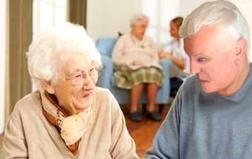 Anziana in una Casa di riposo