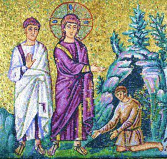 Il Cristo in un mosaico ravennate secondo la visione dell'arianesimo