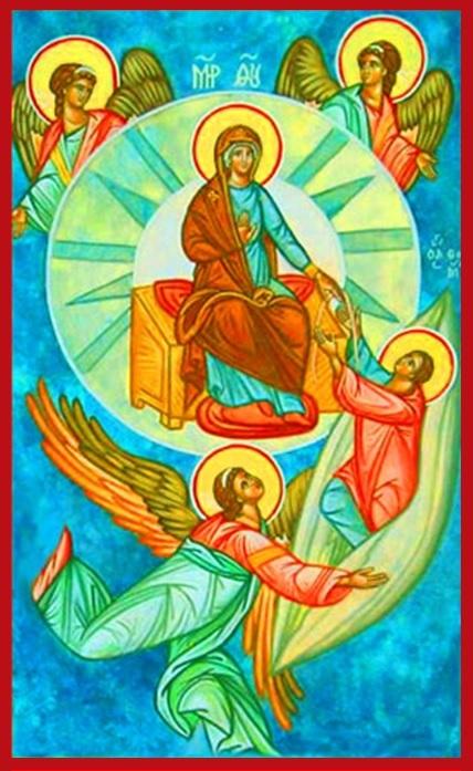 «Assunzione in cielo Madre di Dio» - Icona russa