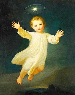 Il Bambino Gesú e la stella