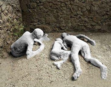 Calchi deigli addormentati di Pompei