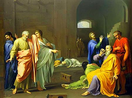 Charles Alphonse Dufresnoy «Morte di Socrate»