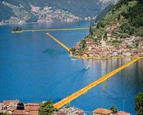 Christo - Passerelle sul lago d'Iseo